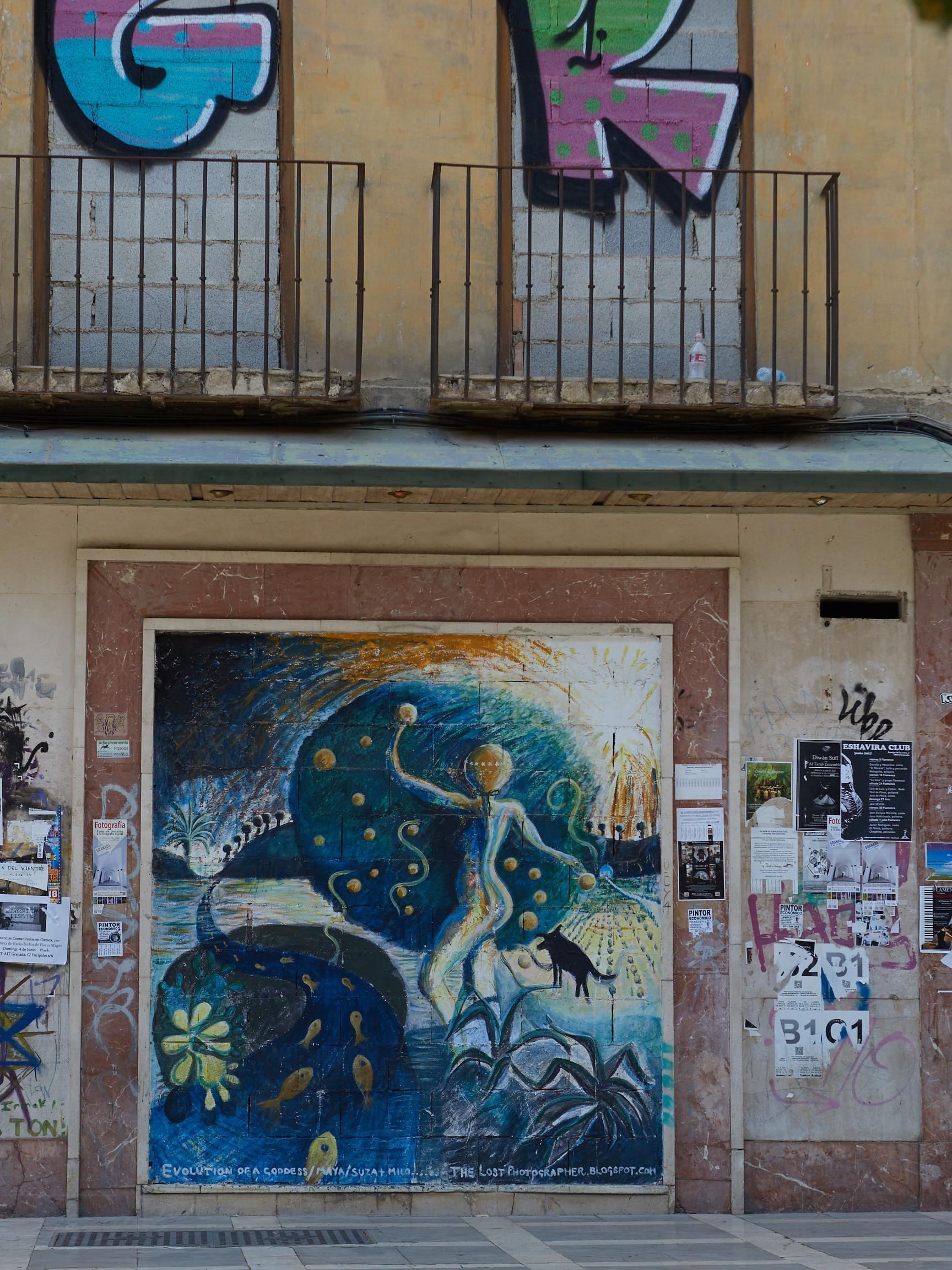 Wandbild am Plaza Nueva (2017)