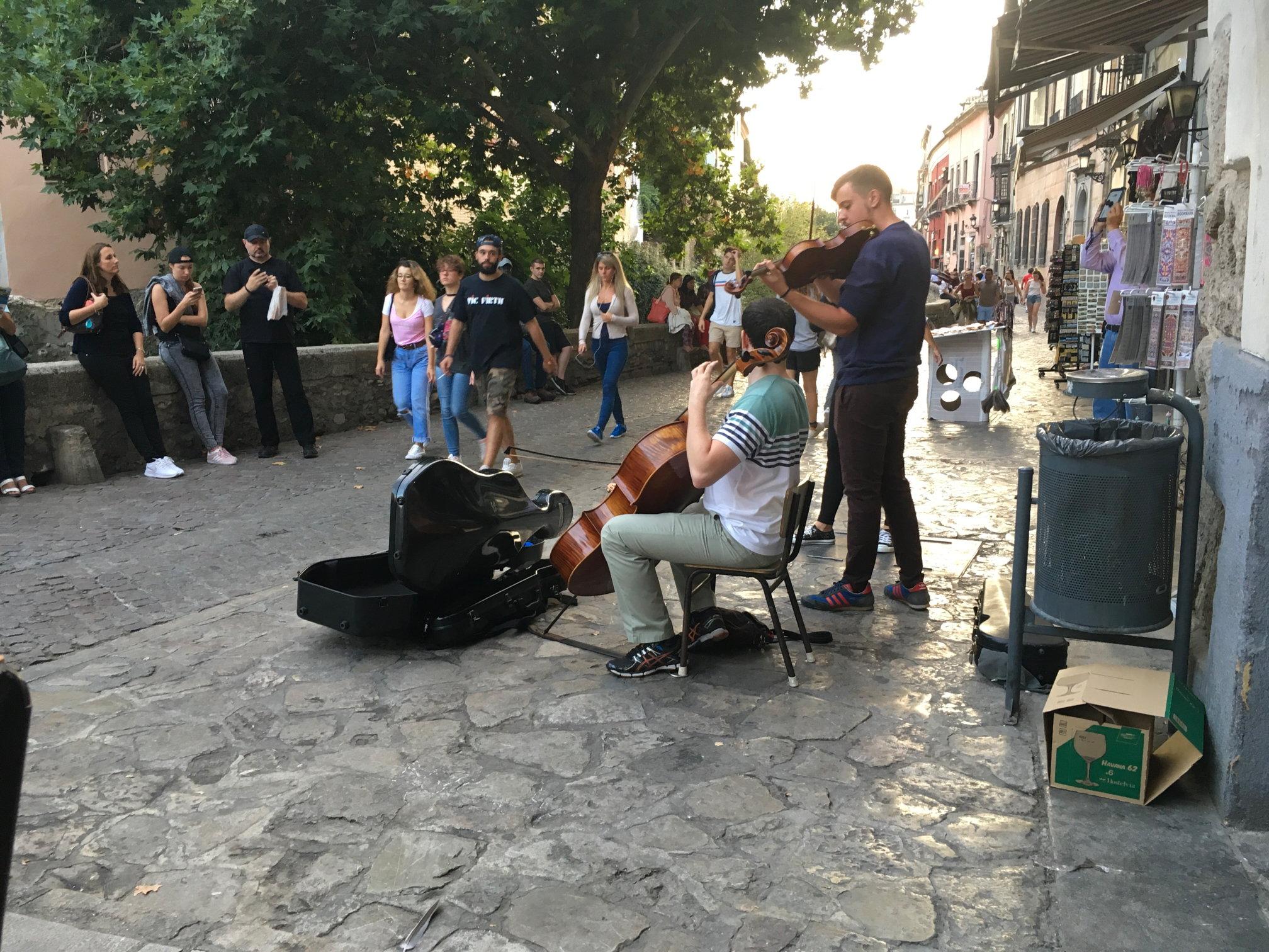 Straßenmusiker am La Fontana