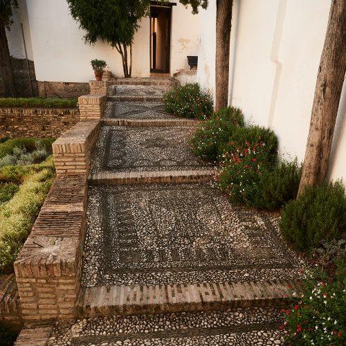 Natursteinmosaike im Palacio de Dalahorra